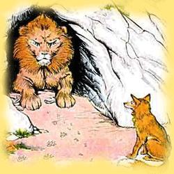 Fábula de El león y la zorra