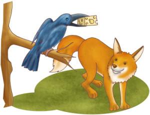 Fábula de El zorro y el cuervo