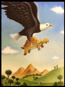 Fábula de La tortuga y el águila