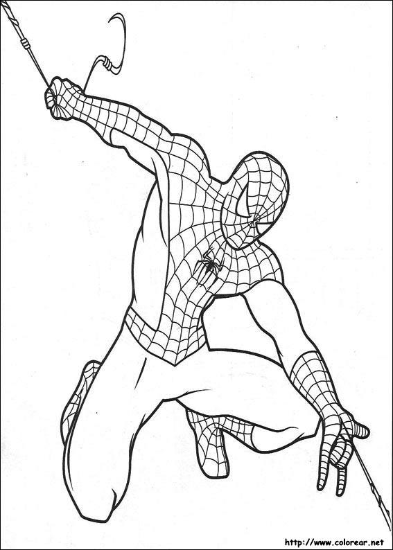 Dibujos de Spiderman para colorear. El hombre araña para niños